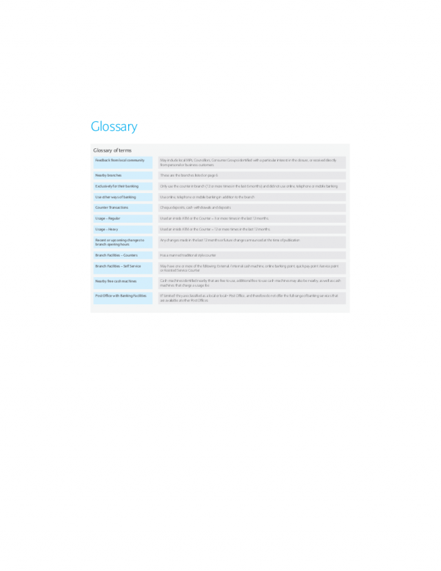 Glossary | Hayle Reason For Closure booklet
